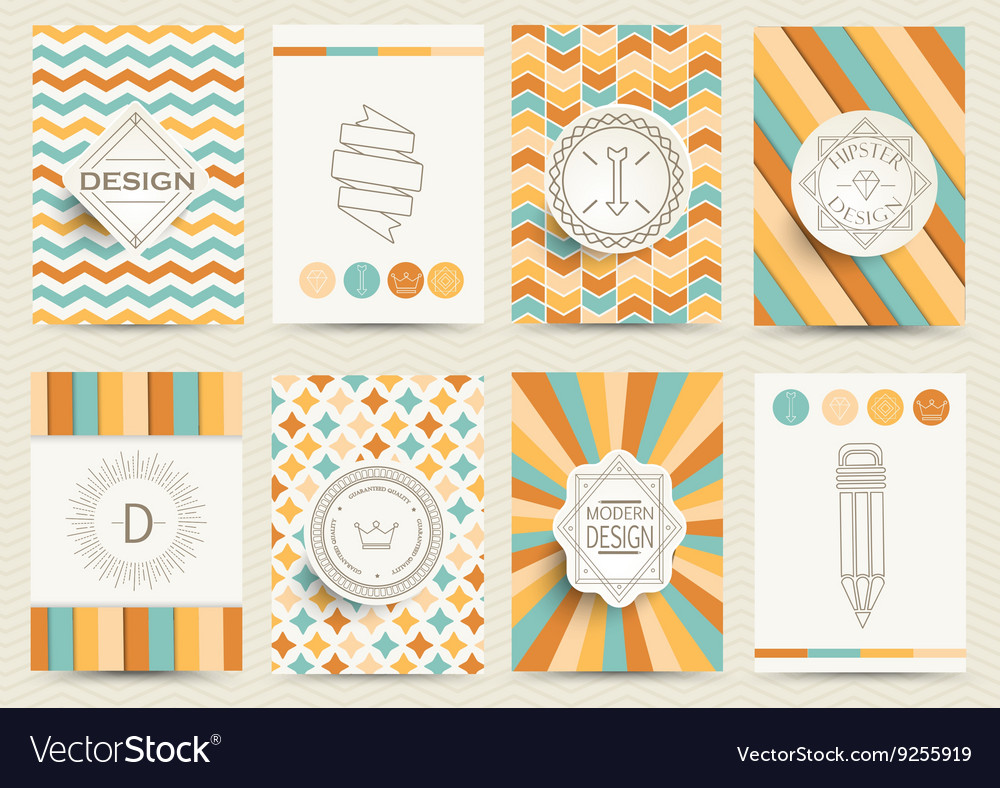 Set of Retro Backgrounds vector image