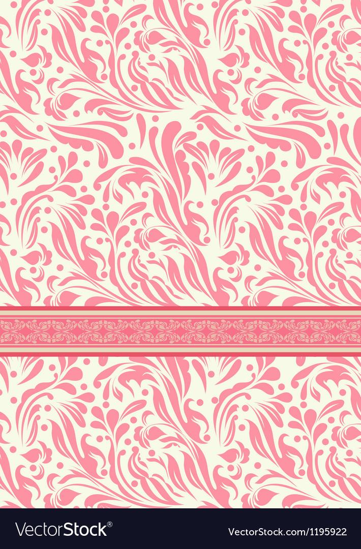 Vintage background for invitation card vector image