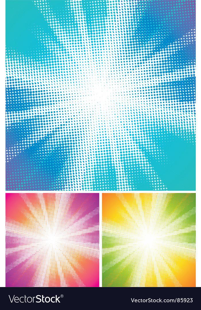 Halftone explosion vector image