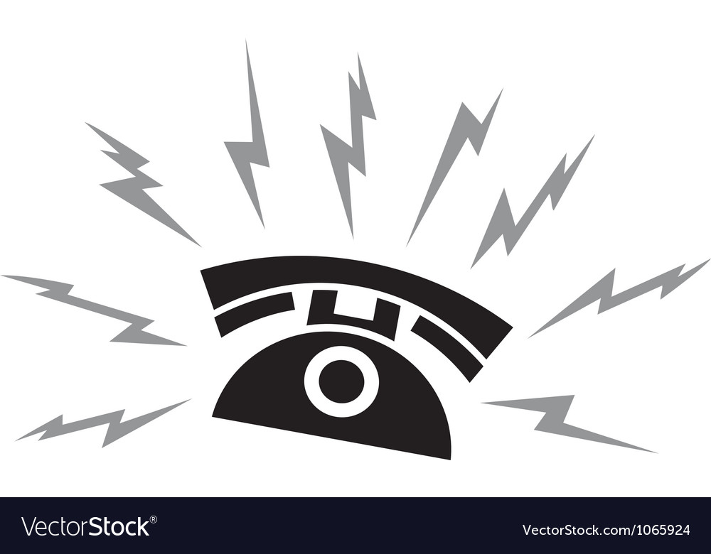 Black ringing phone and call vector image