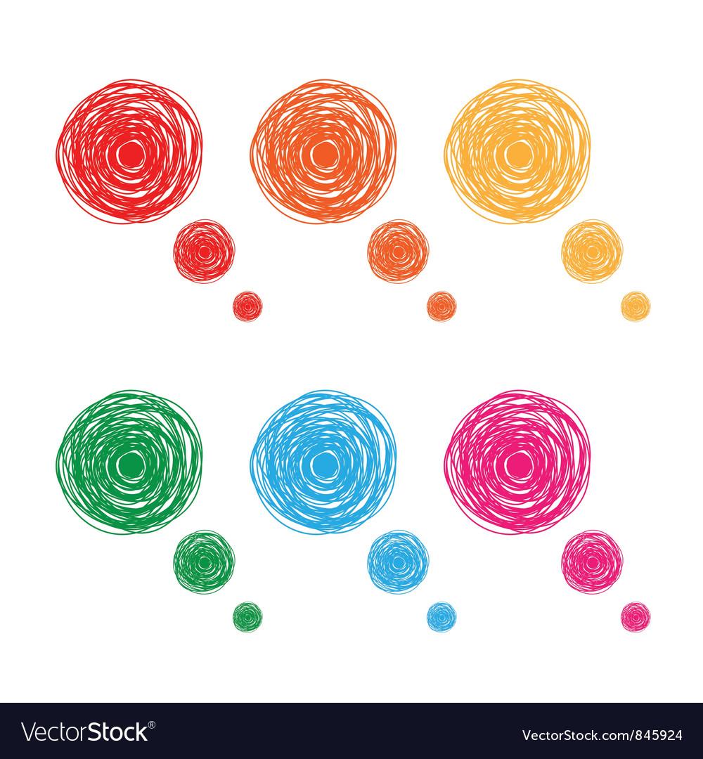 Hand drawn bubbles Vector Image