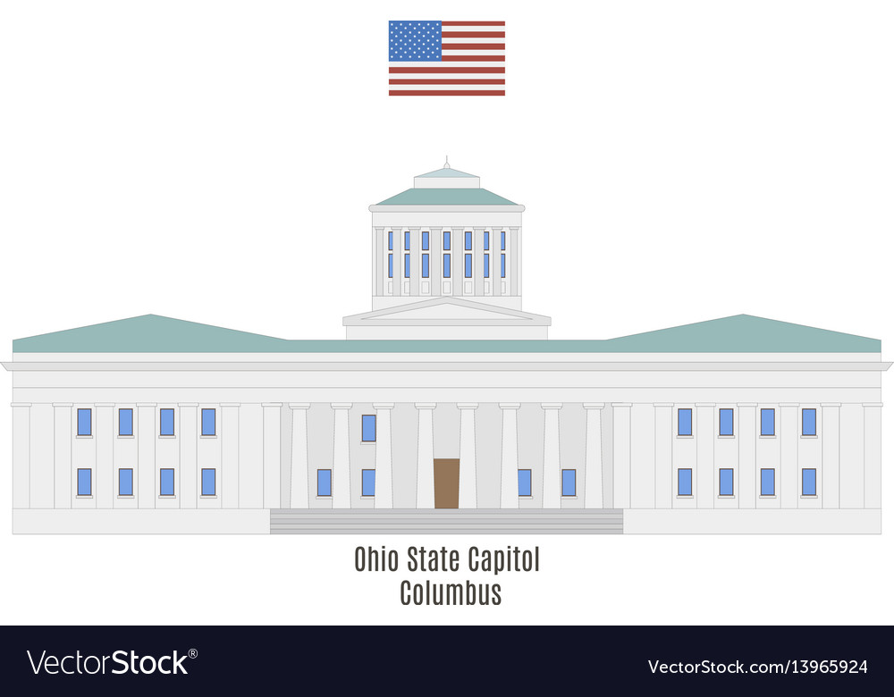 Ohio state capitol vector image