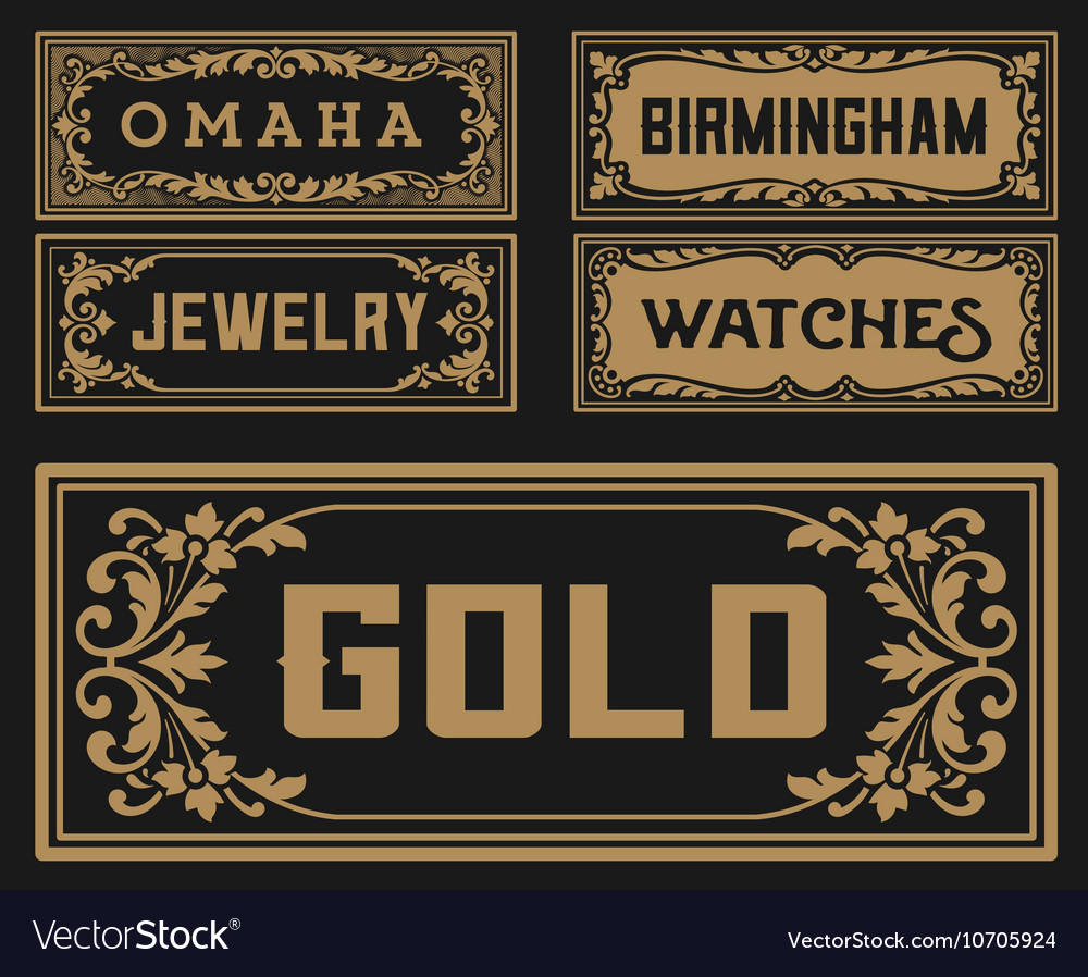 Pack old banners - vector image