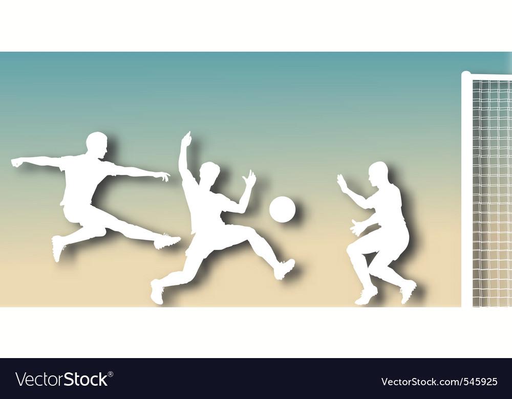 Goalmouth cutout vector image
