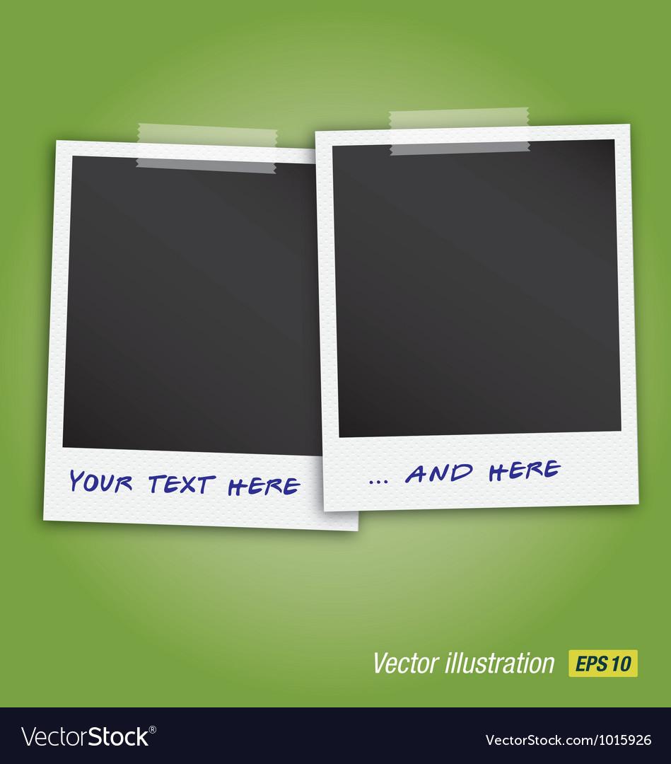 Two polaroids vector image