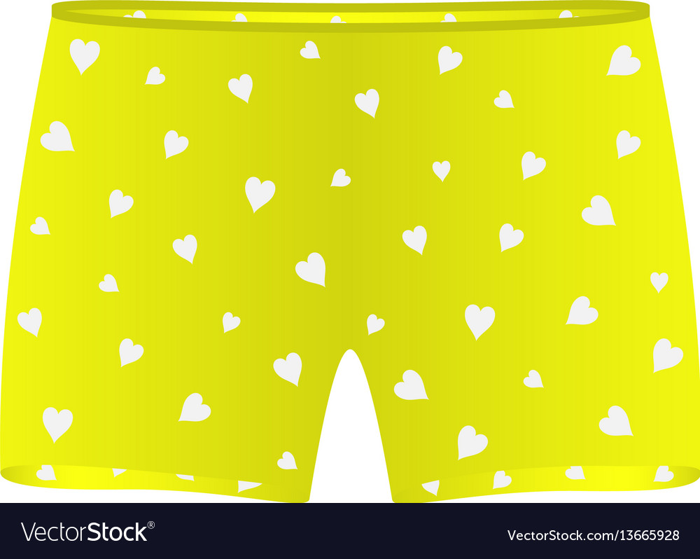Men underwear with white hearts vector image