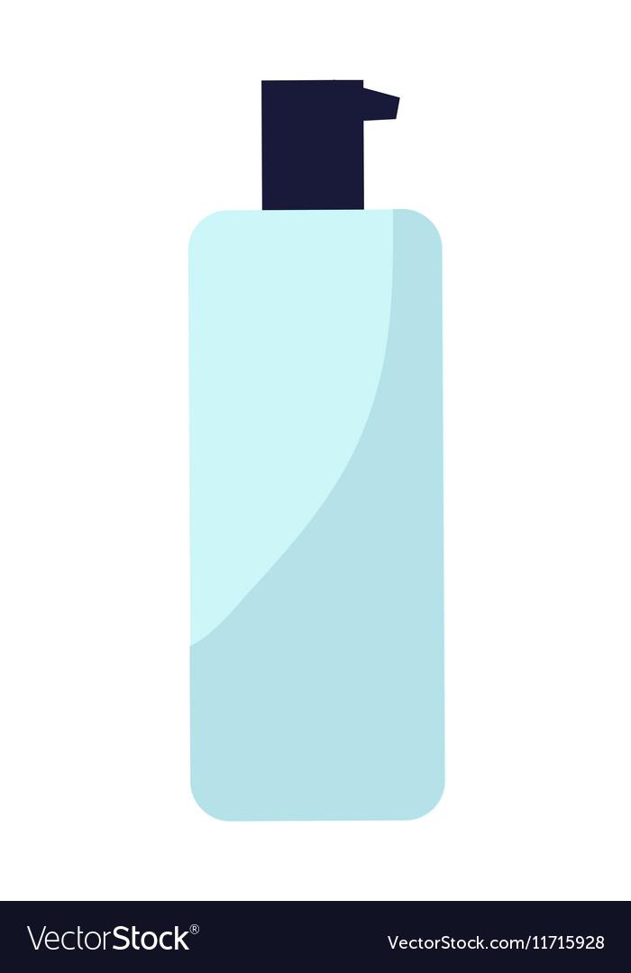 Plastic Bottle of Cream vector image