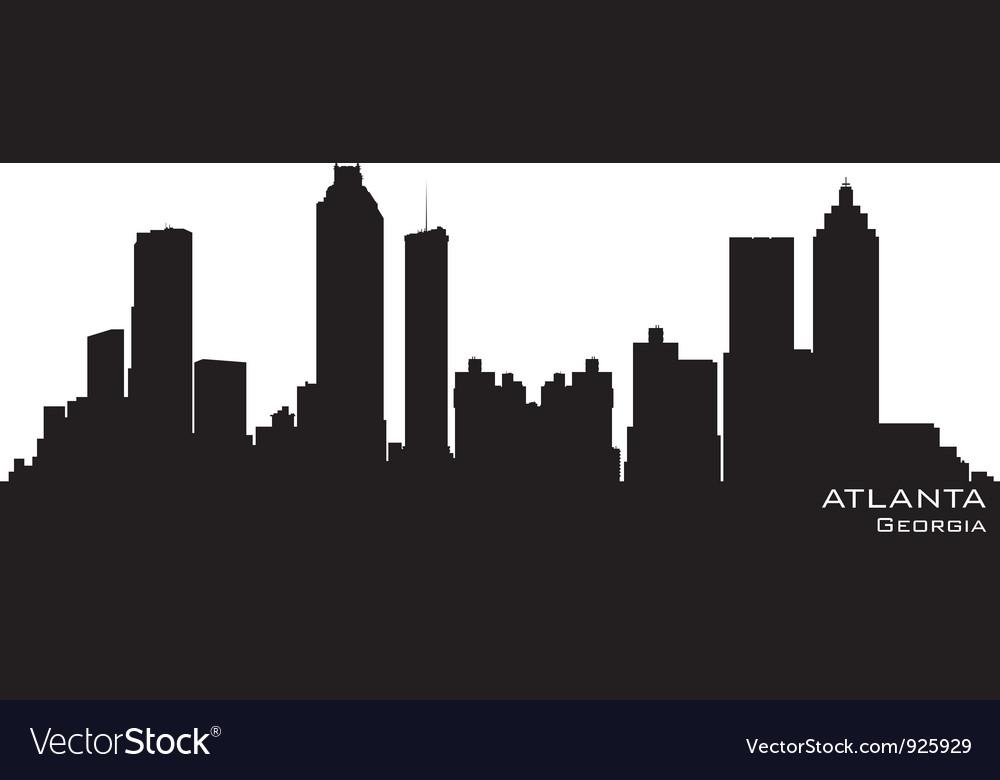 Atlanta Georgia skyline vector image
