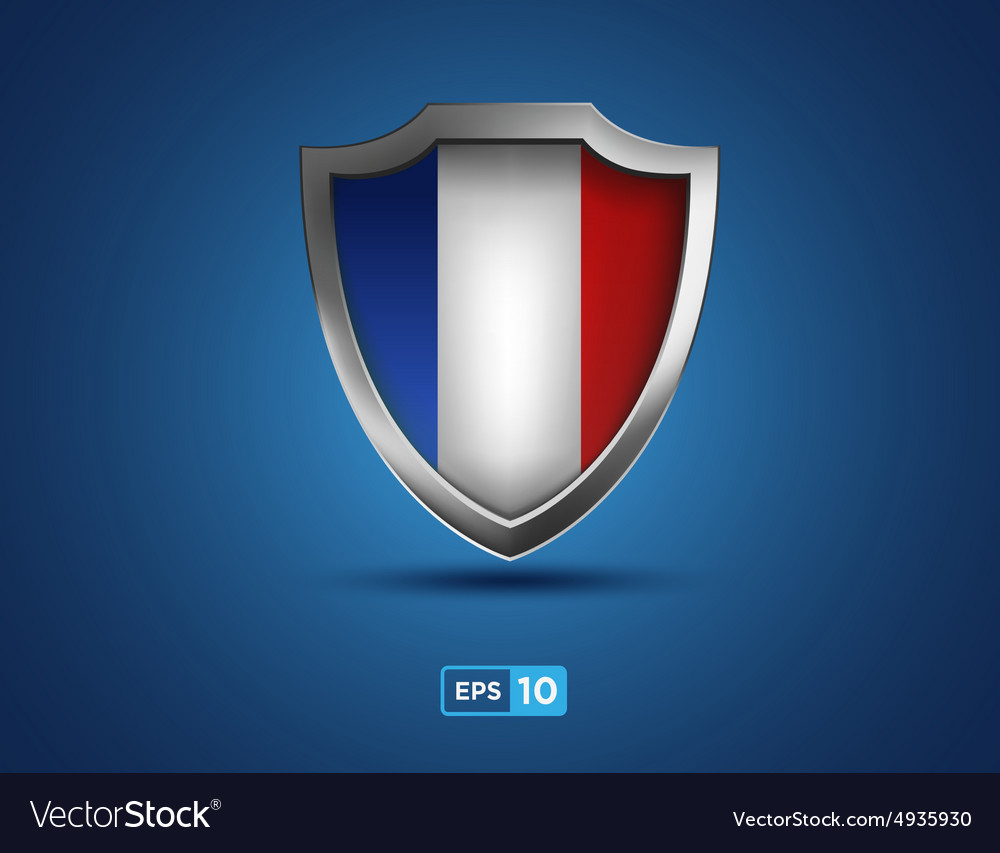 France shield on the blue background vector image