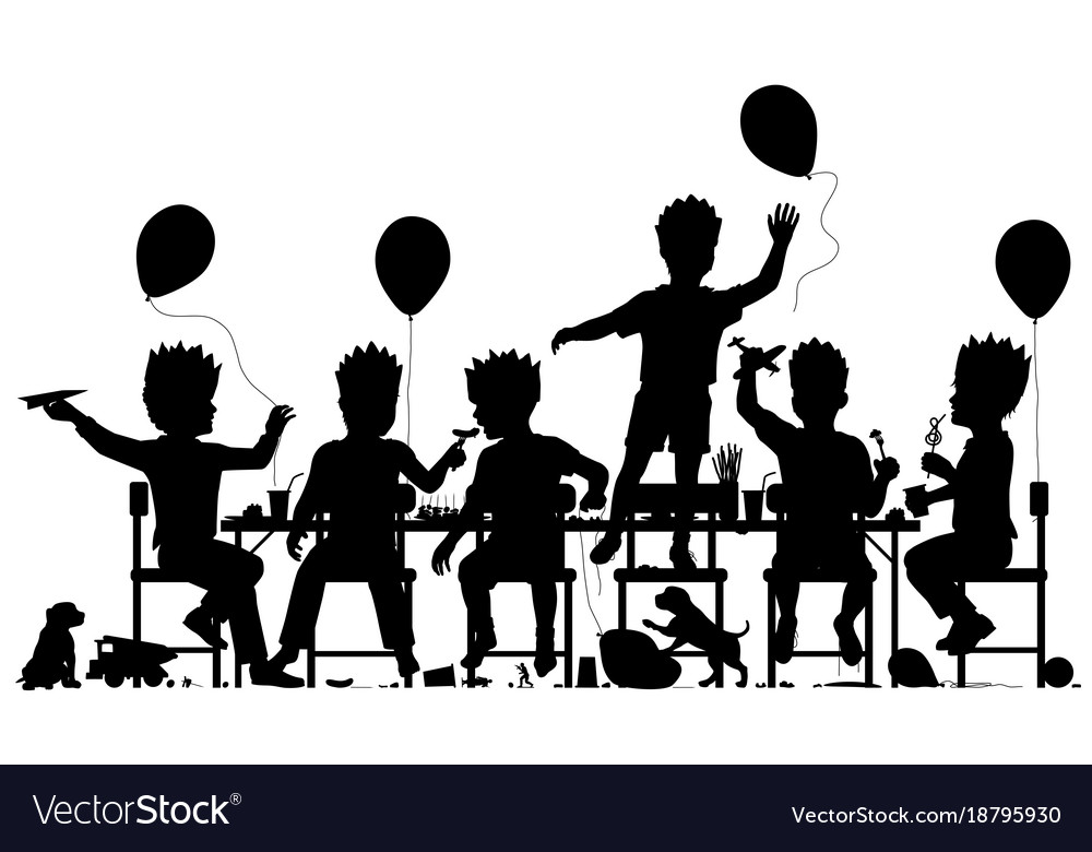Party boys vector image