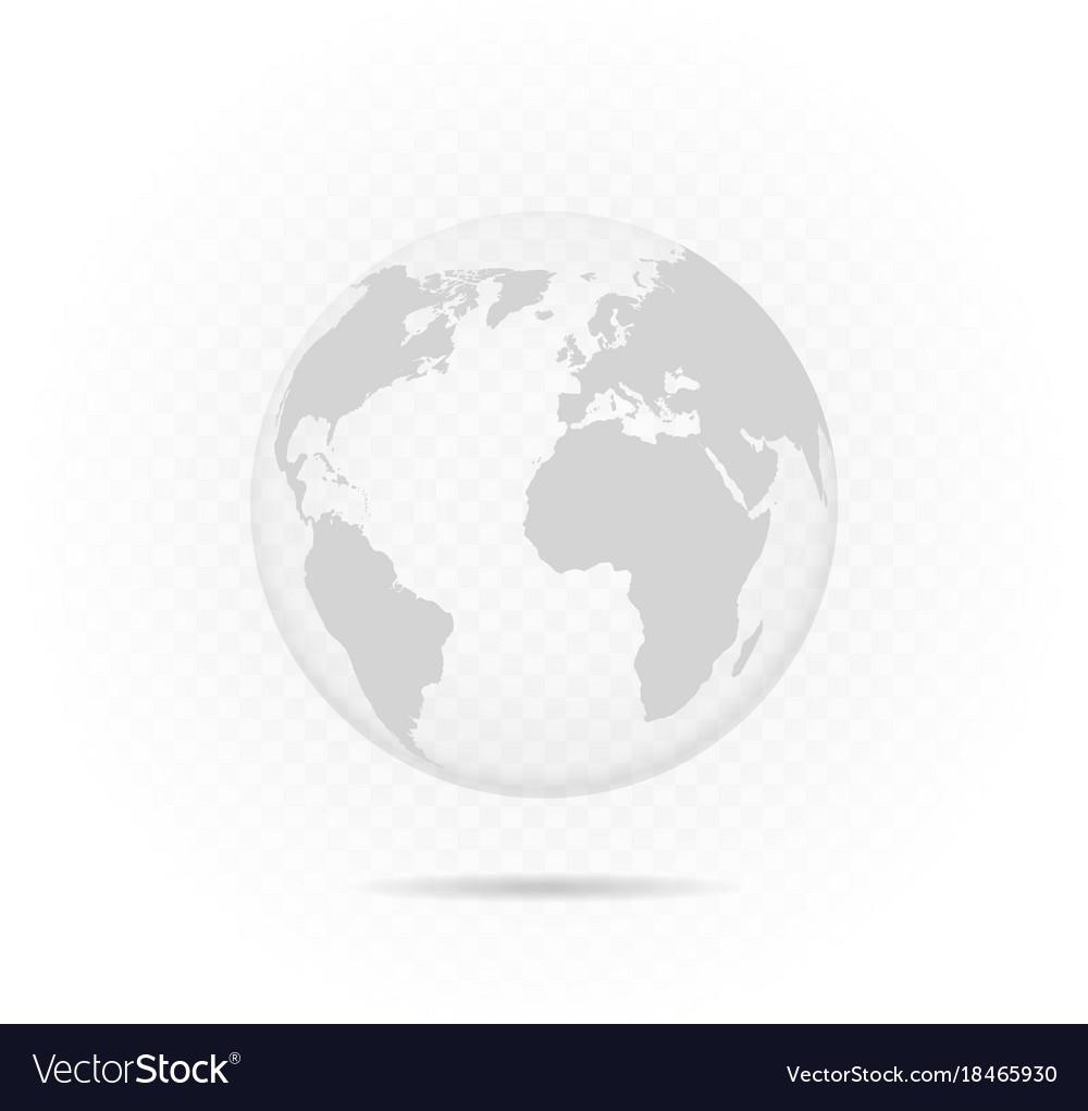 Transparent globe vector image