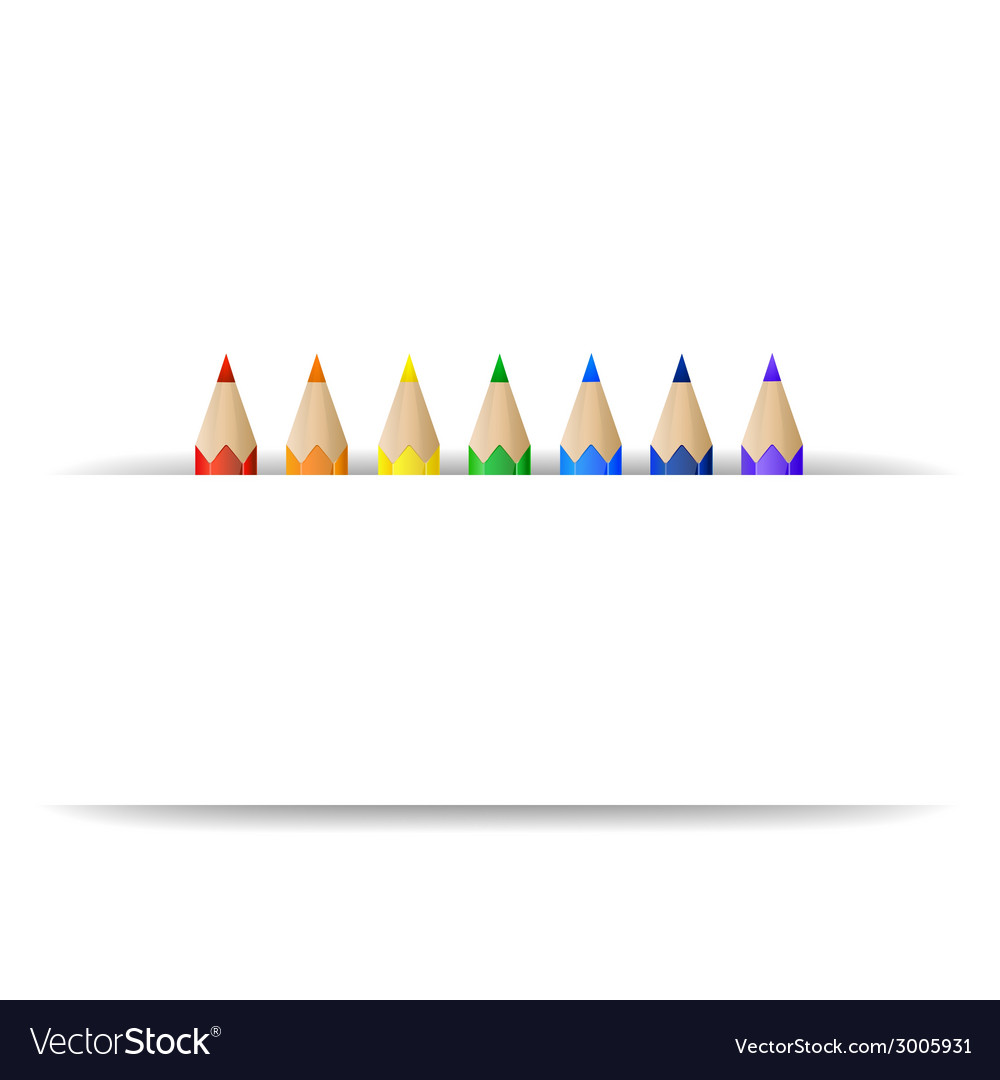 Color pencils and paper banner vector image
