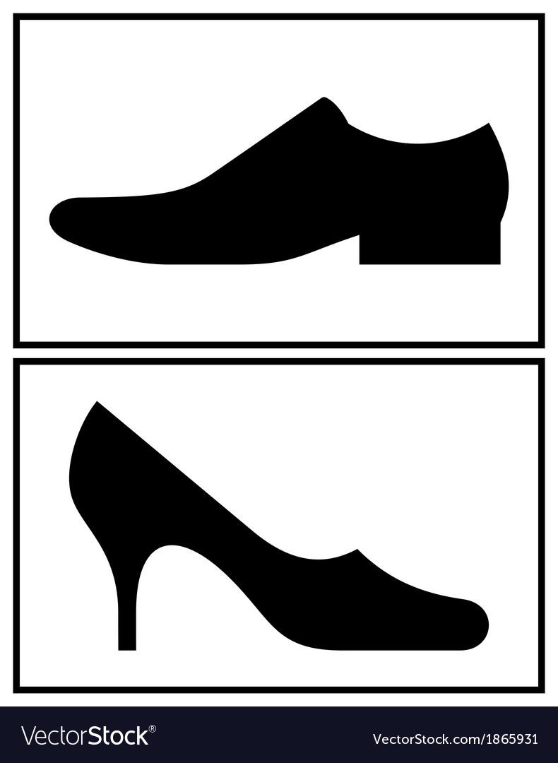 women and men shoe royalty free vector image vectorstock rh vectorstock com show victorious cast show victoria