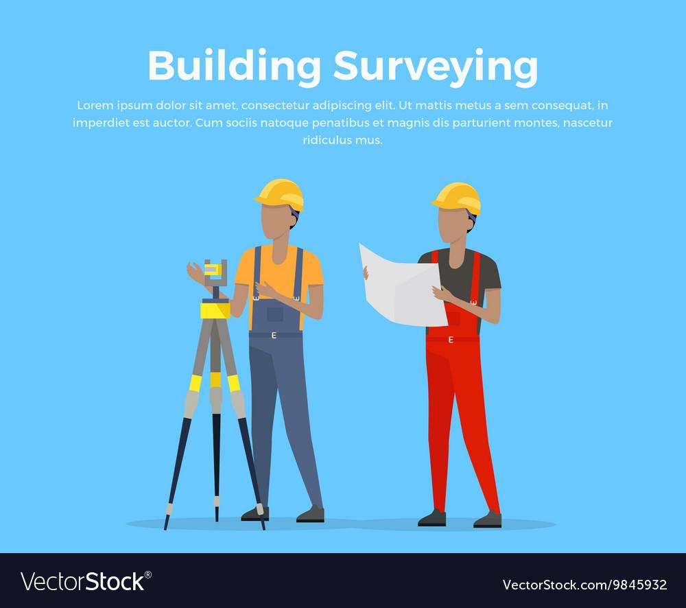 Building Surveying vector image