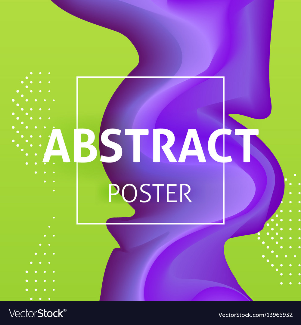 Colorful liquid poster design vector image