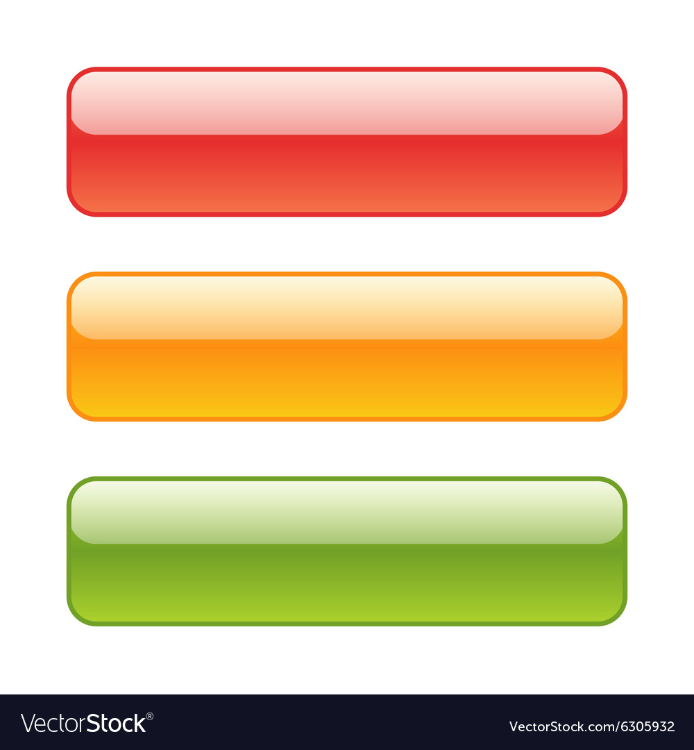 Set of red green and yellow web background vector image