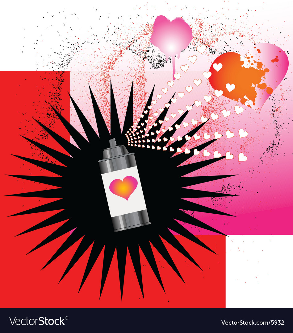 Spray on love vector image