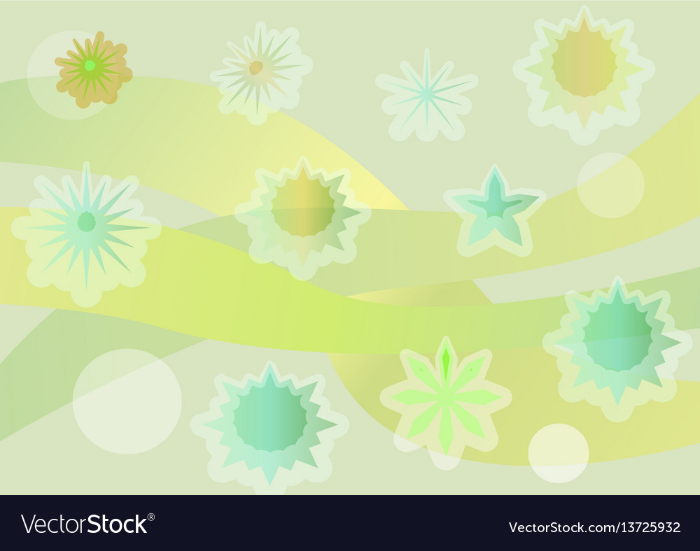 Spring background with fantasy uneven distributed vector image
