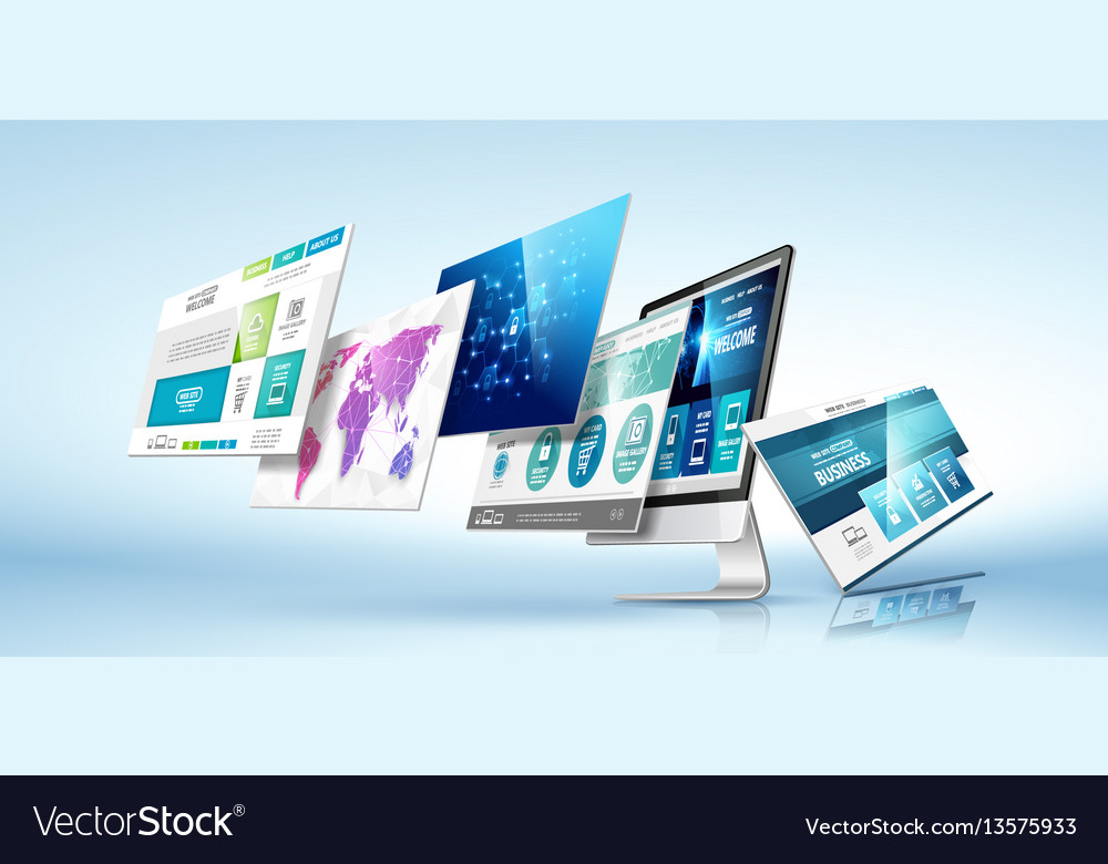 Modern device concept vector image