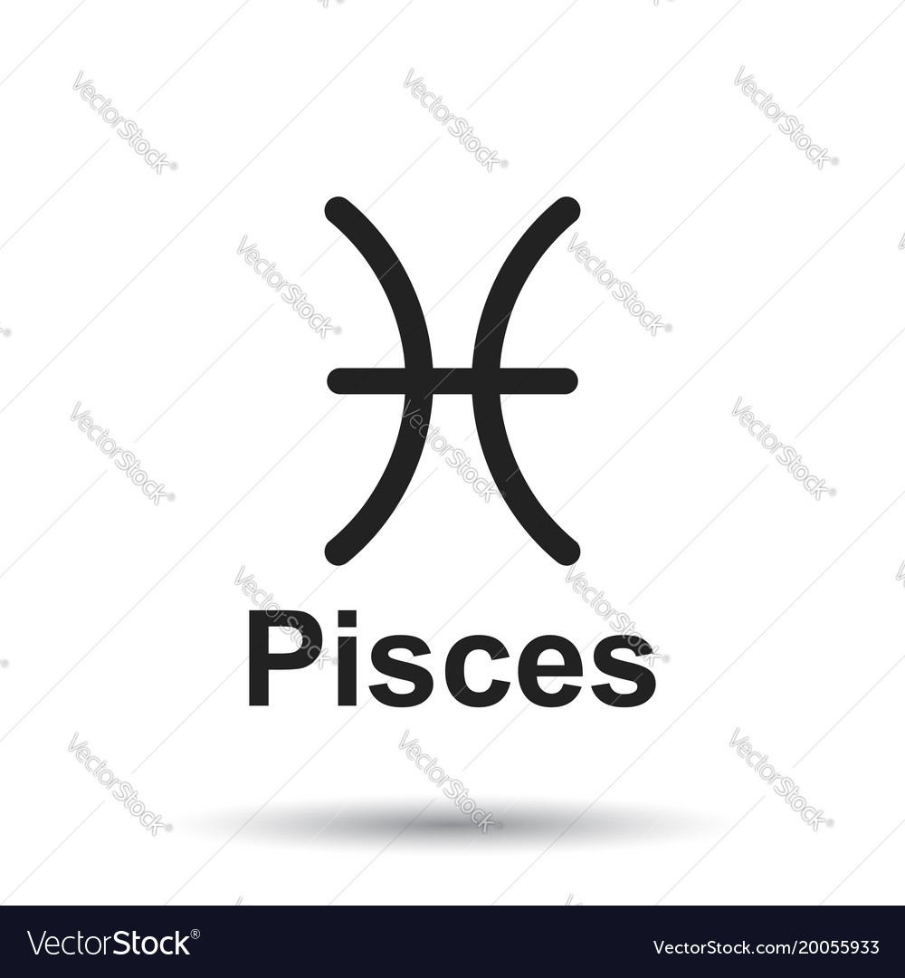 Pisces zodiac sign flat astrology on white vector image biocorpaavc Choice Image