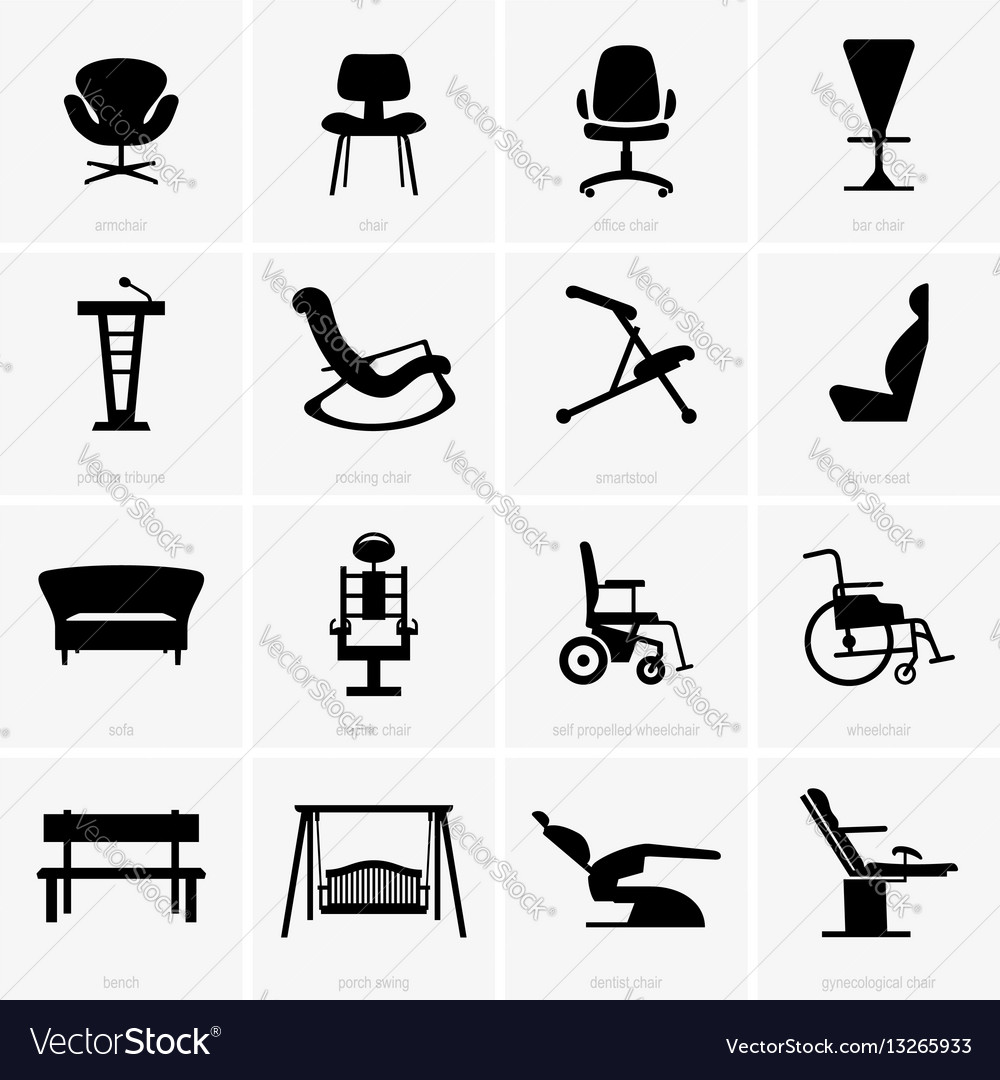 Seats and chairs Royalty Free Vector Image - VectorStock