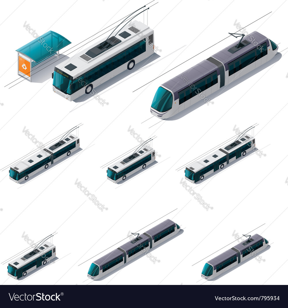 Public electric transport vector image