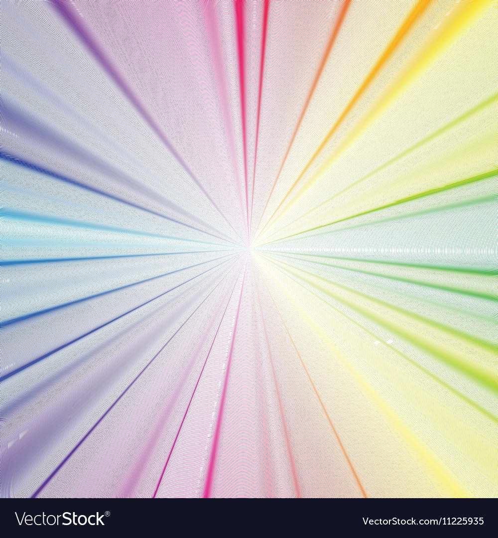 Colorful 3d background with abstract waves lines vector image