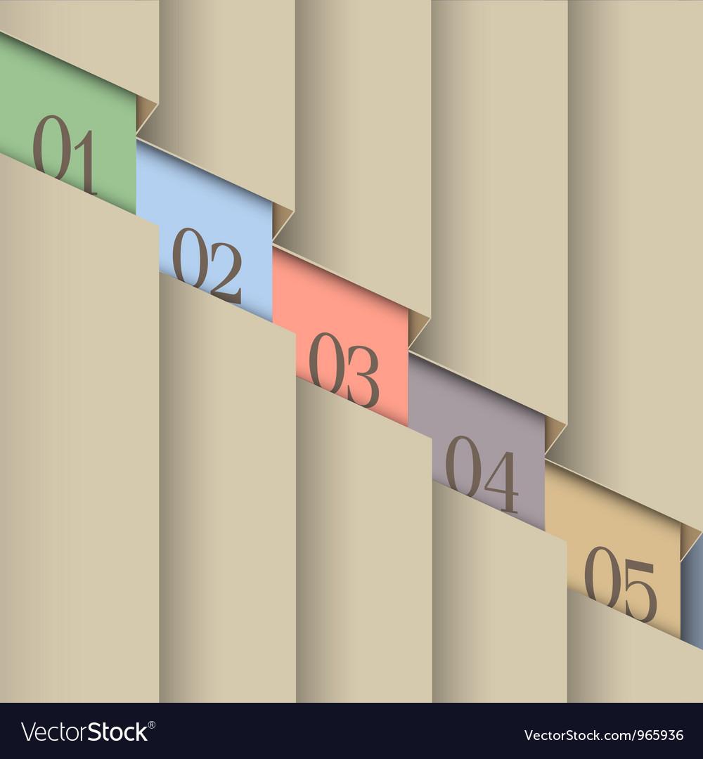 Paper number line background vector image