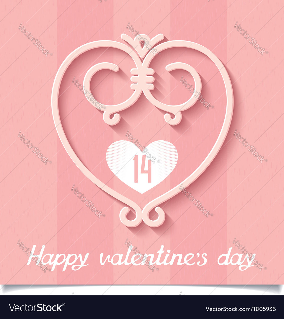 Pink ornaments heart of lines a symbol of love vector image pink ornaments heart of lines a symbol of love vector image biocorpaavc Images