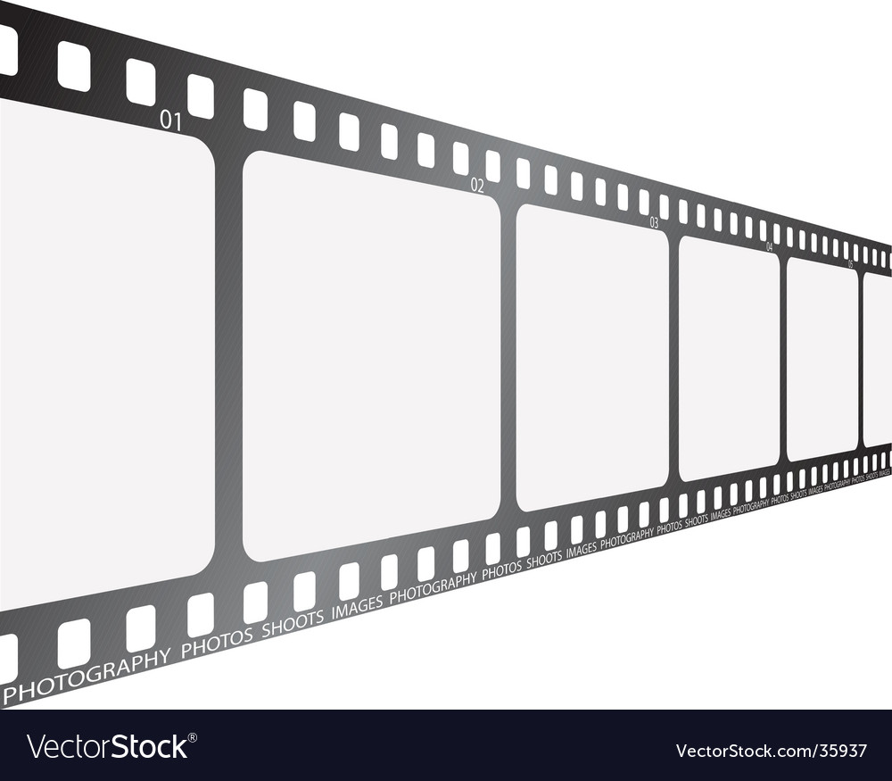 Film looking along vector image