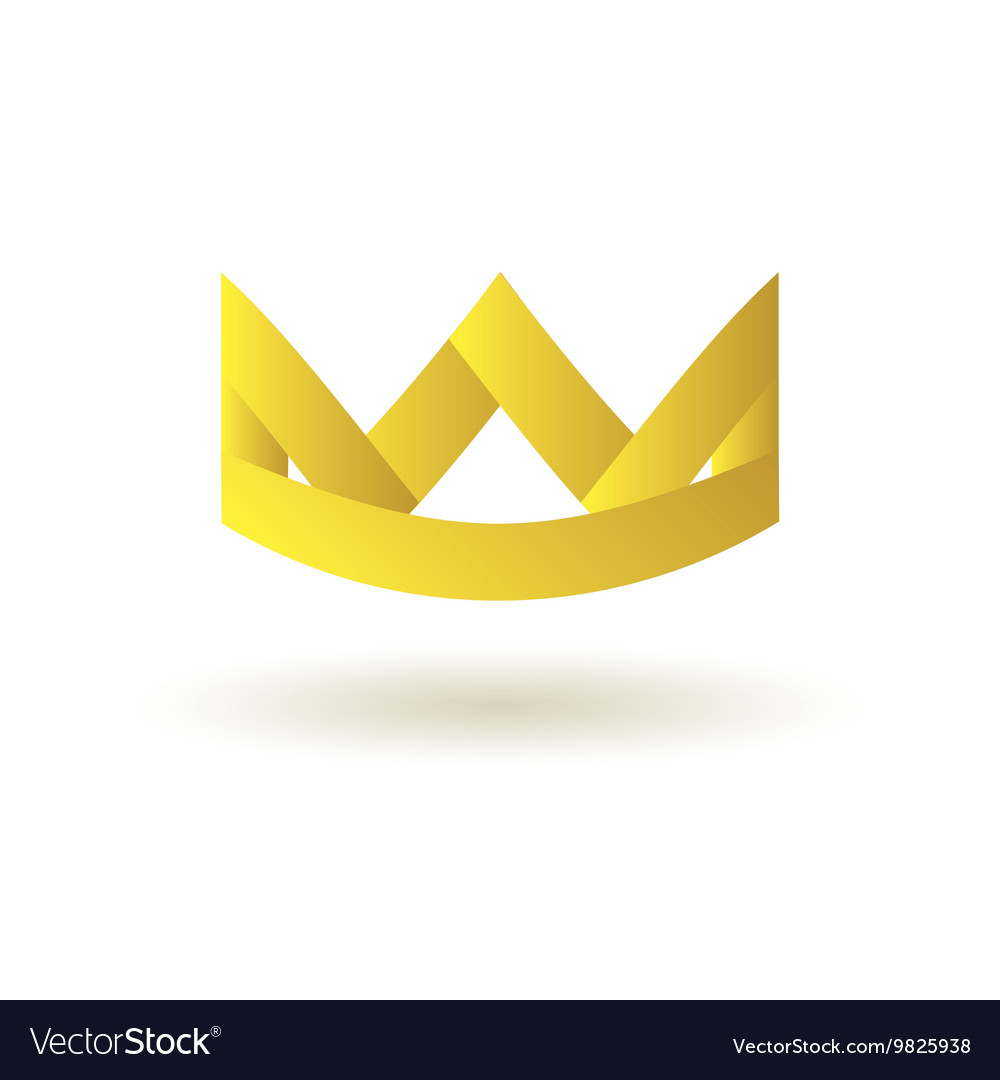 Crown king logo symbol icon vector image