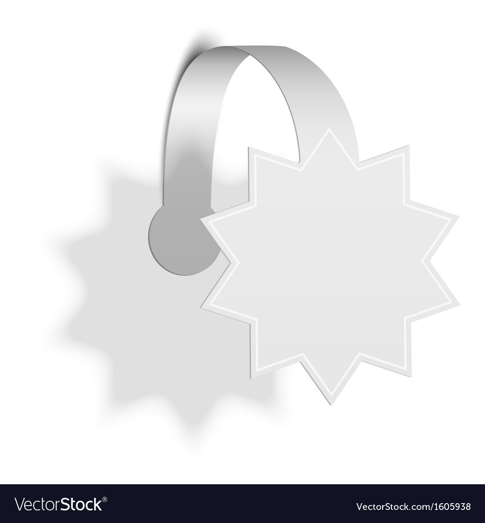 Isolated Star Promotion Wobbler vector image