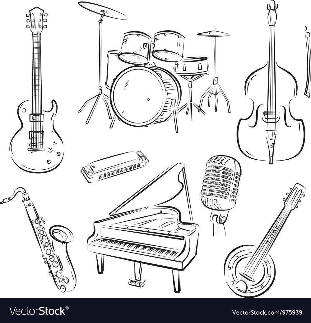 Jazz band set vector image