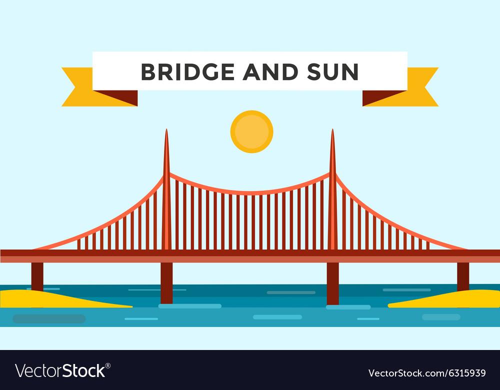 Modern bridge vector image