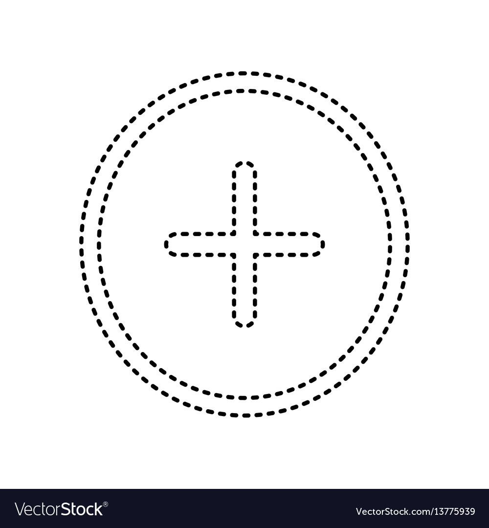 Positive symbol plus sign black dashed royalty free vector positive symbol plus sign black dashed vector image biocorpaavc Choice Image