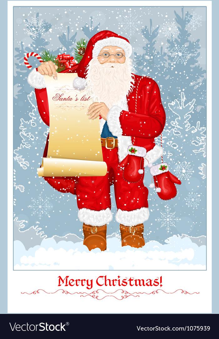 Santa Claus vector image