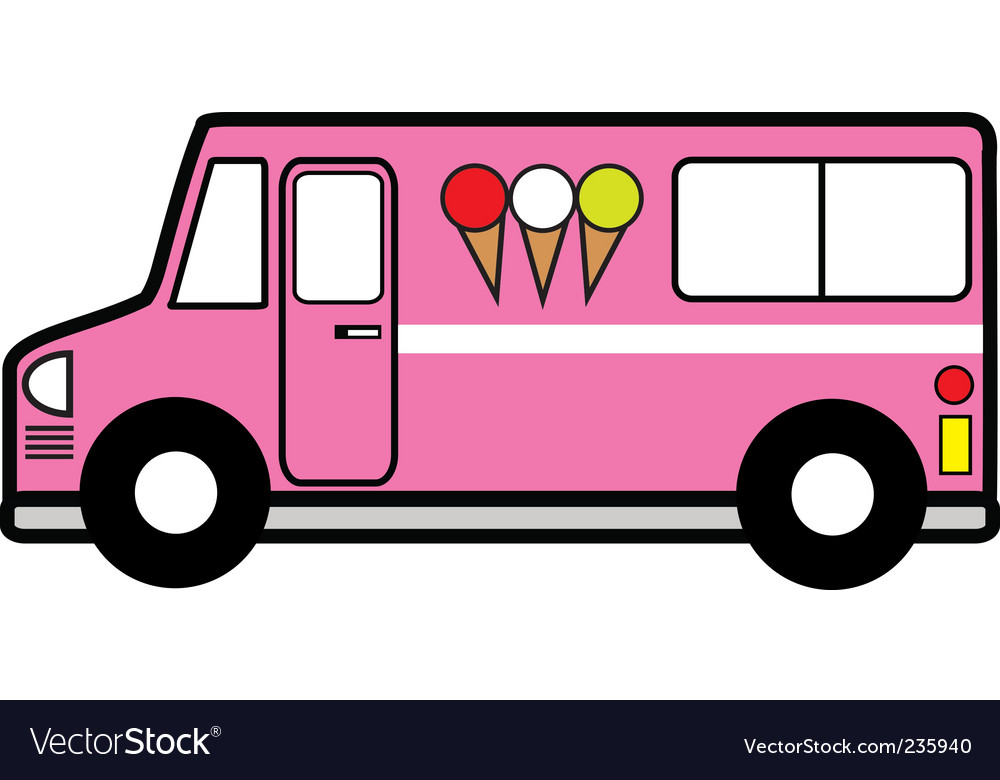 Ice cream truck vector image