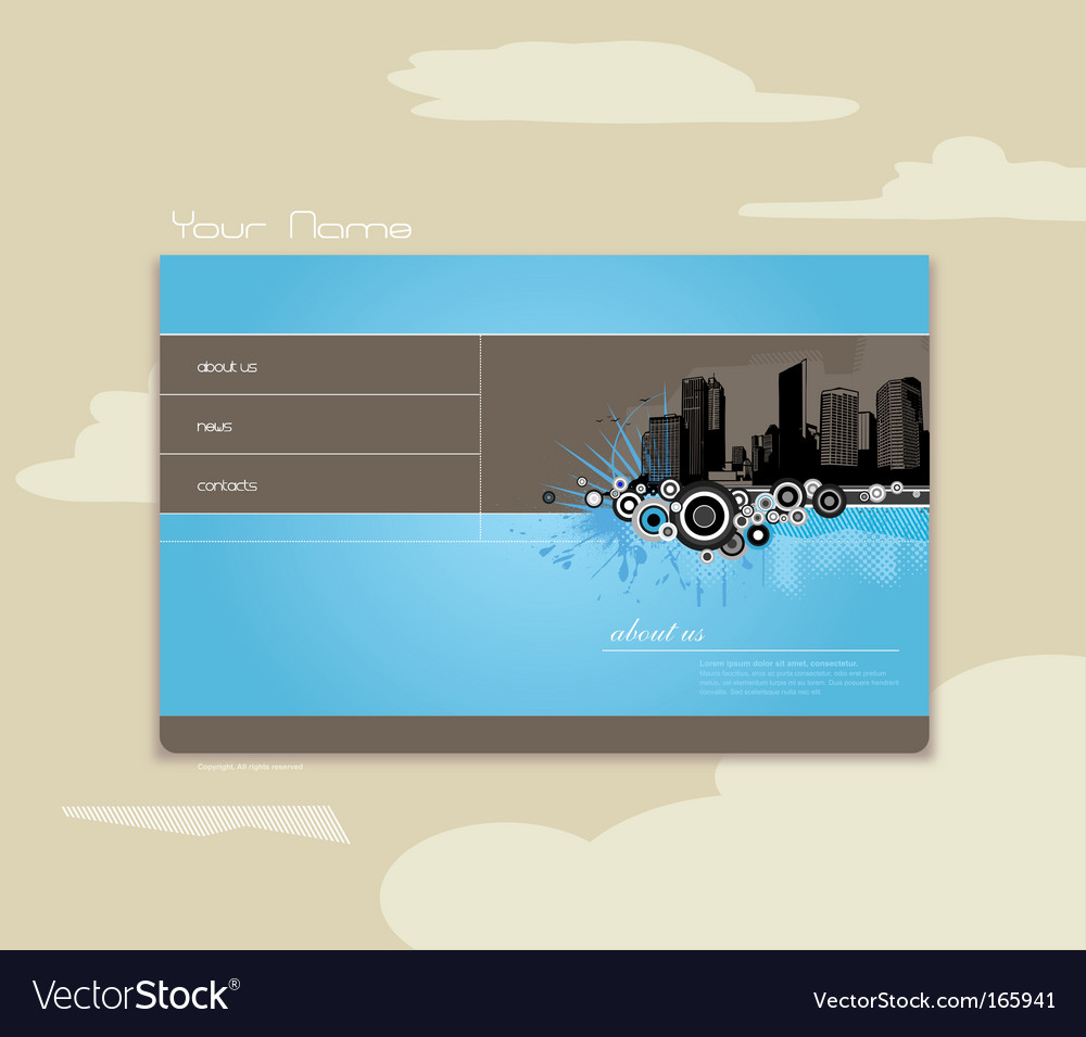 Website vector image