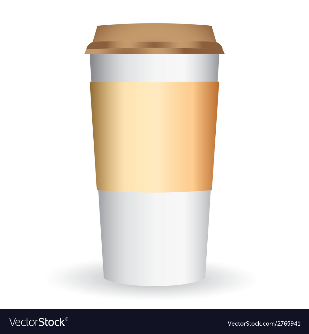 Paper coffee long cup vector image