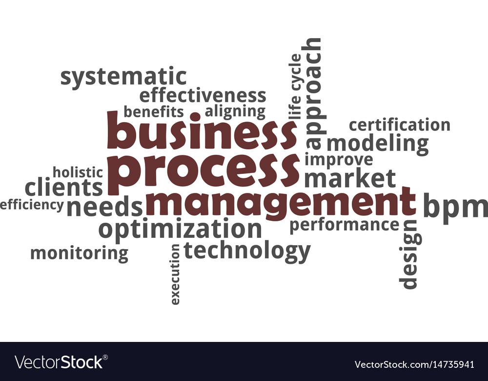 Word cloud - business process management vector image