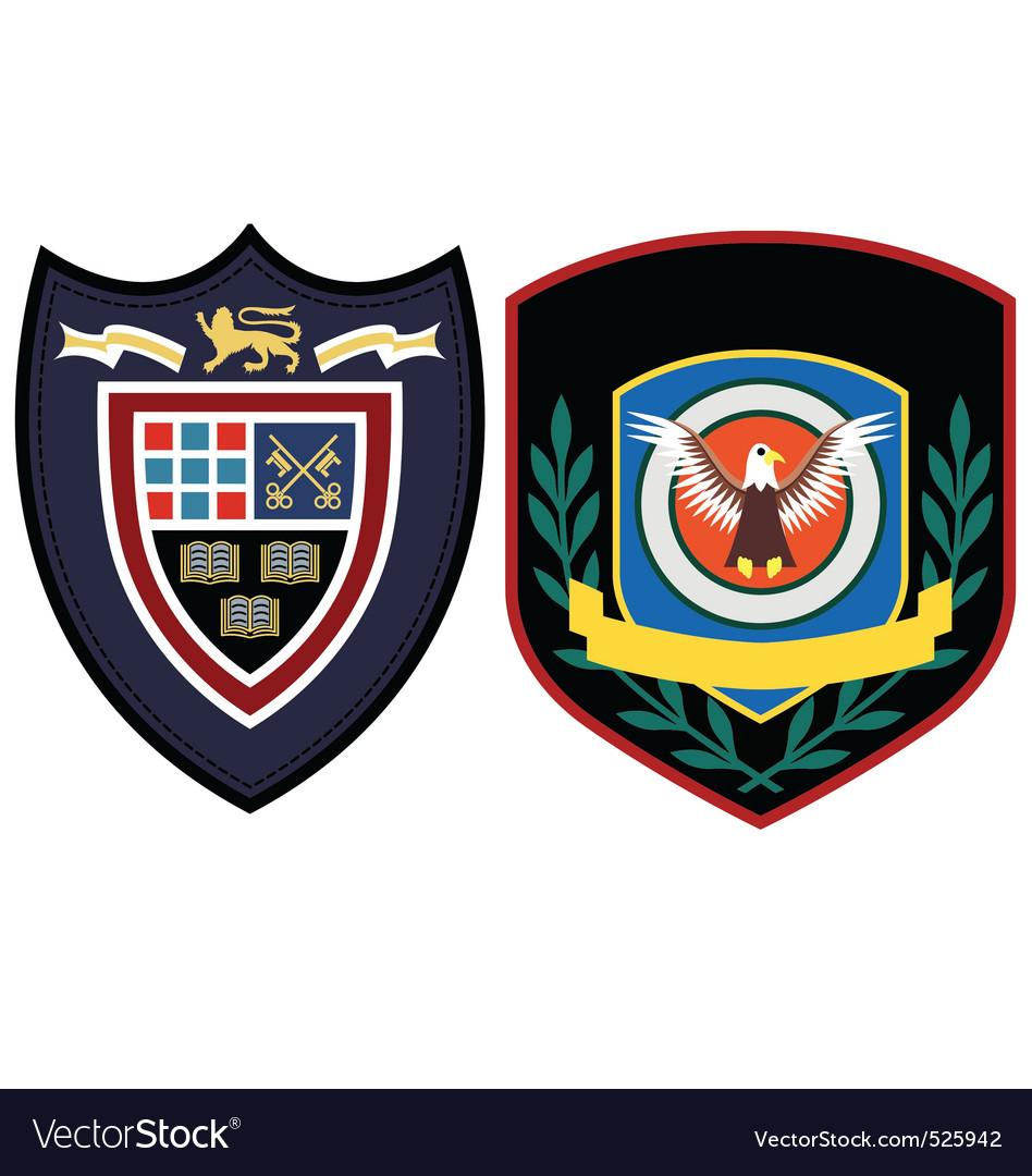 Badge design vector image