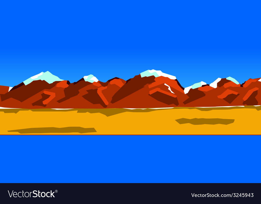 Background of a mountain range vector image