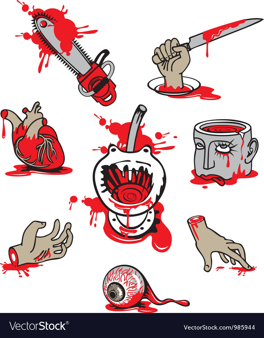 Set of horrors Vector Image