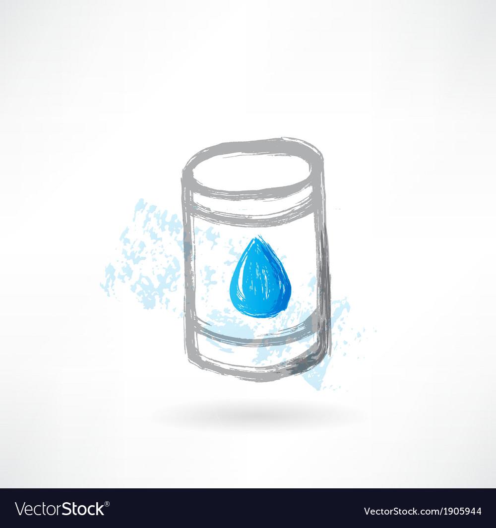 Fuel grunge icon vector image