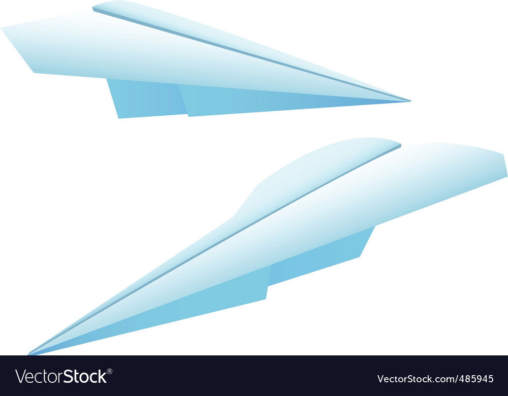 Two paper planes vector image