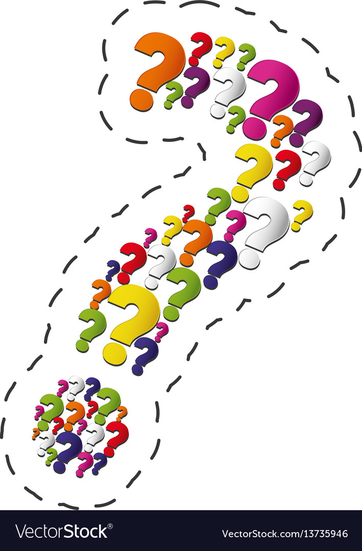 Collection question mark image vector image