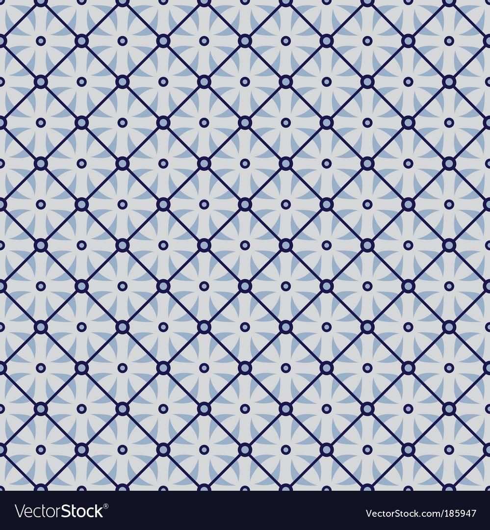 Geometric wallpaper pattern vector image