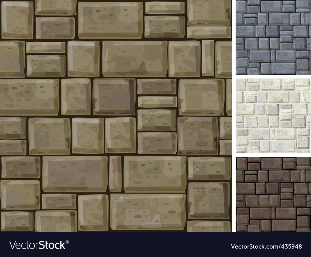 Stonewall texture vector image
