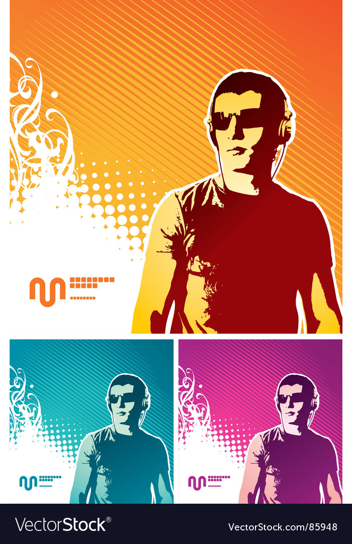 Music man vector image