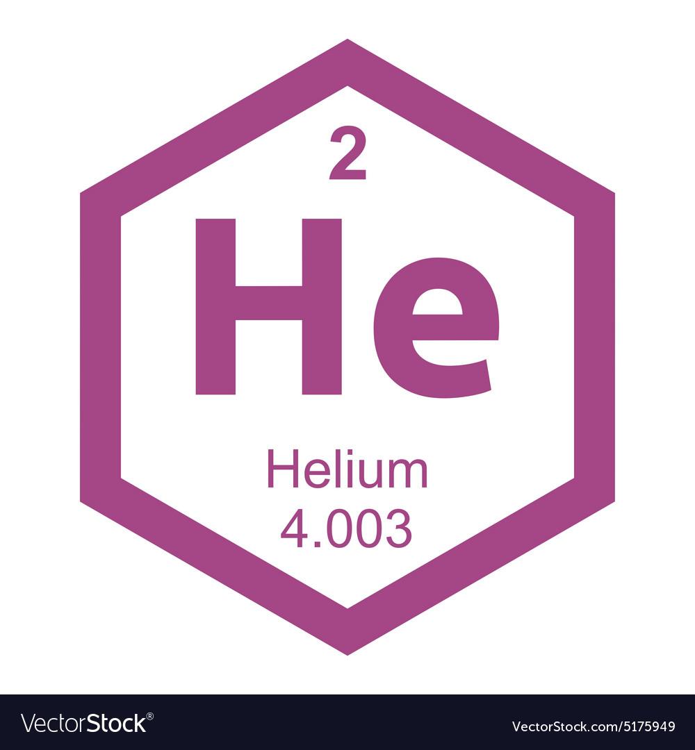 Periodic table helium Royalty Free Vector Image - VectorStock